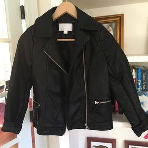 NWT Girl's Moto Jacket sz L
